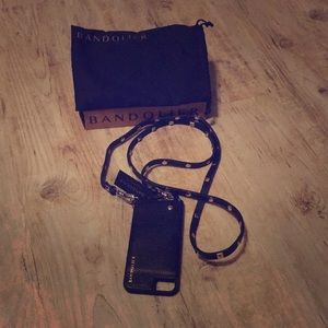 NWT Leather Bandolier iPhone 6/7/8 Case